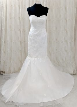 Mermaid tulle wedding dress - sweetheart neckline - designer wedding dress - south london bridal shop
