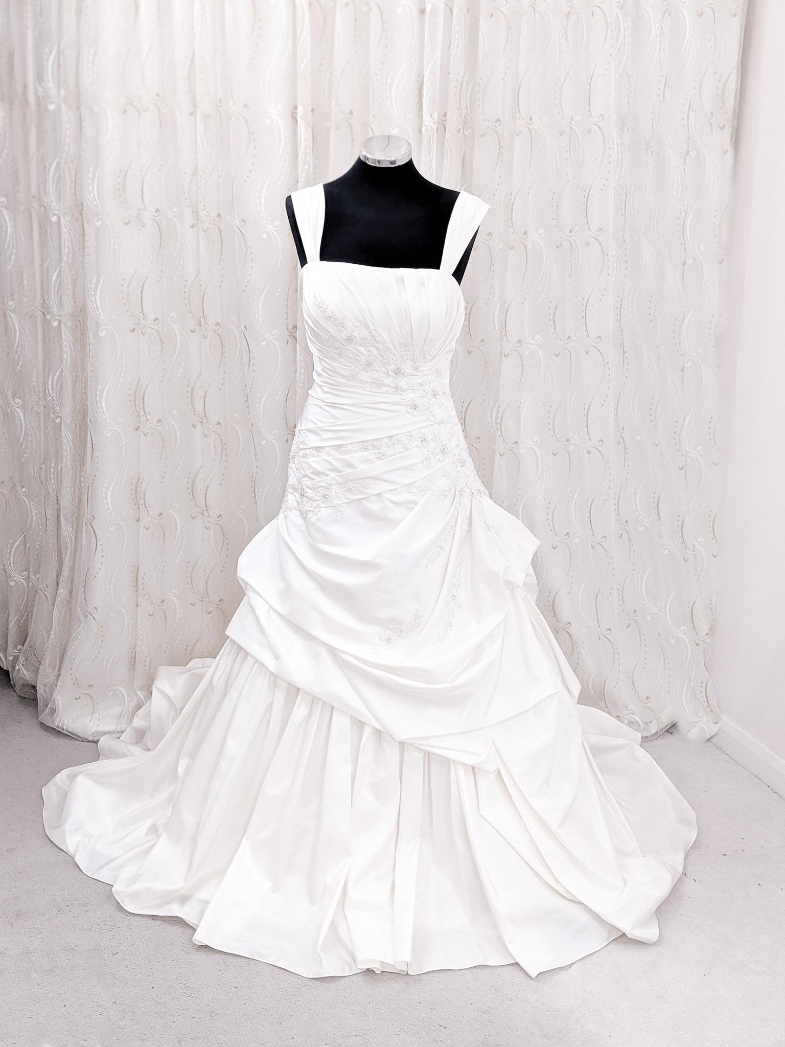 Pleated Bridal Ball Dress Lbb103 The London Bridal Boutique
